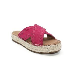 Aerosoles Slip On Espadrilles Pink Suede Sandal 6